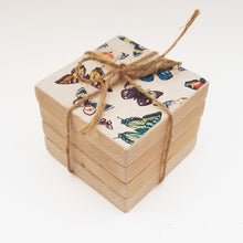Load image into Gallery viewer, Handmade Natural Wood Coaster Set ***REDUCED***