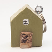 Load image into Gallery viewer, Keychain Green House Keyring Wood Gift