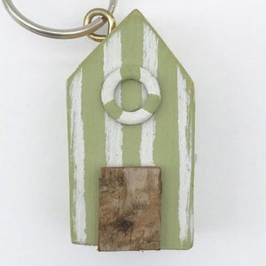 Nautical Beach Hut Key Chain