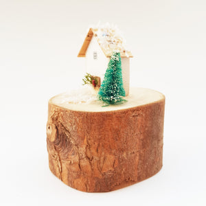 Wooden Houses Christmas Decoration