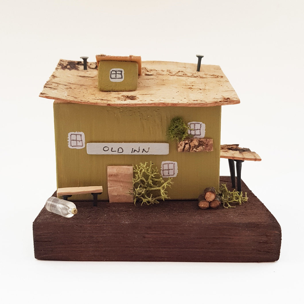 Pub Diorama Miniature Scenes Wooden Gifts for Men