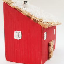 Load image into Gallery viewer, Wooden Christmas House Ornament