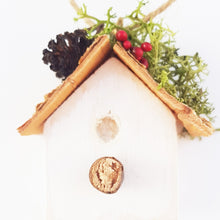 Load image into Gallery viewer, Bird House Wooden Christmas Tree Ornament