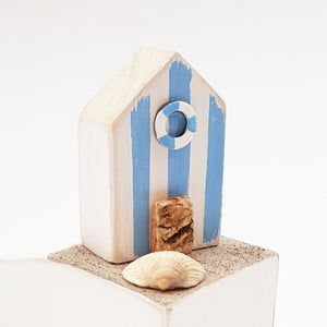 Nautical Wood Doorstop Beach Hut Accessories Nautical Decor - Painted in a colour of your choice