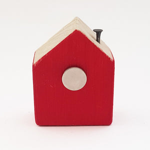 Tiny Wooden House Fridge Magnet