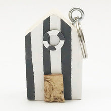 Load image into Gallery viewer, Wooden Beach Hut Keyring