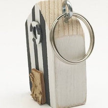 Load image into Gallery viewer, Beach Hut Wooden Key Ring