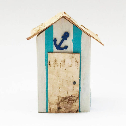 Beach Hut Ornament Bathroom Accessories Nautical Coastal Garden