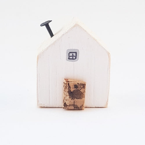 Wooden House Magnet
