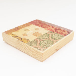 Vintage Style Wooden Coaster Set