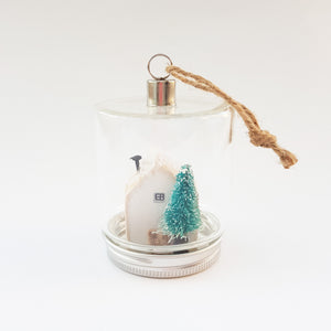 Christmas Cottage in a Jar Christmas Decorations Christmas Wooden House Christmas House Figurine Christmas Baubles Tree Decorations Ornament