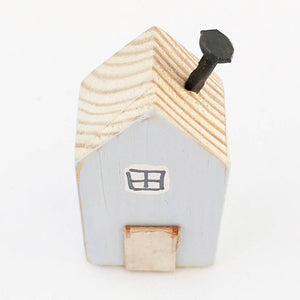 Light Blue Miniature House Magnet
