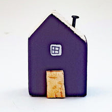Load image into Gallery viewer, Purple Wooden Mini House