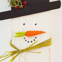 Load image into Gallery viewer, Snowman Decoration Christmas Wood Decor