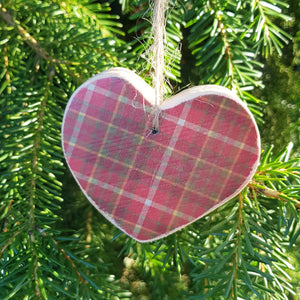 Tartan Christmas Tree Decorations