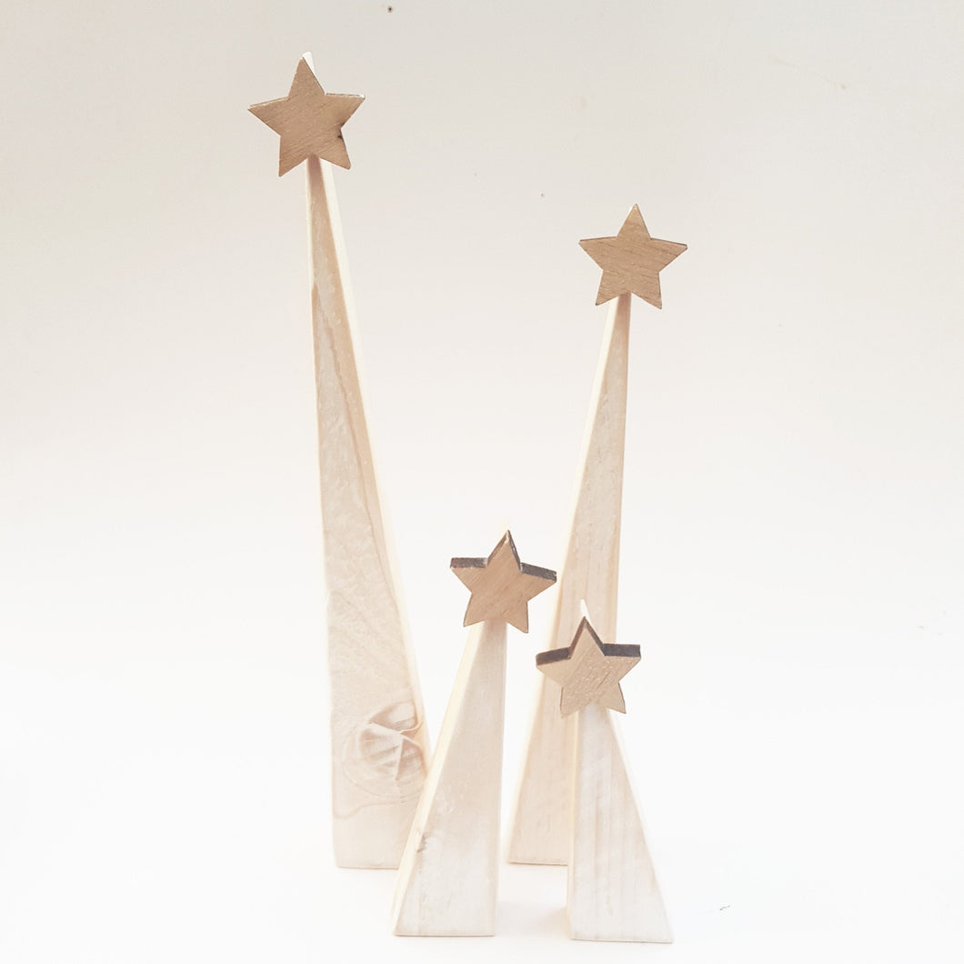 Contemporary Wooden Christmas Trees Modern Christmas
