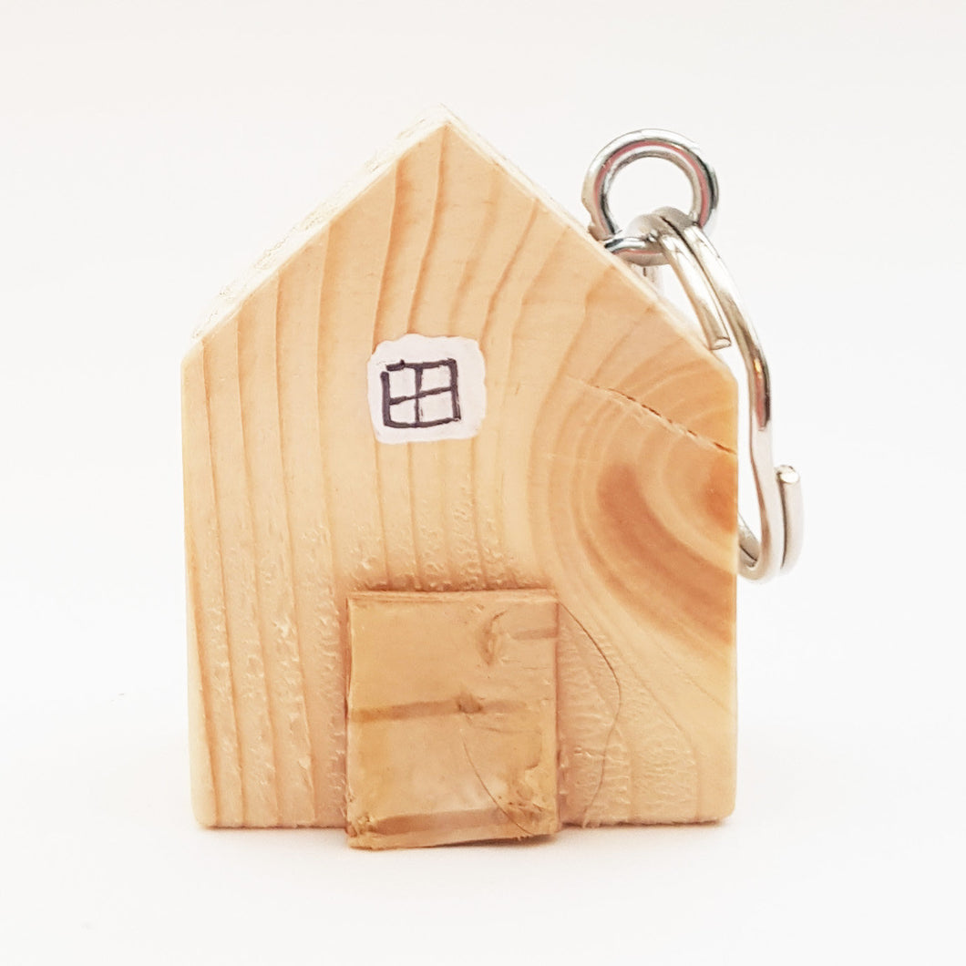 Key Ring Wood Miniature House New Home Gift