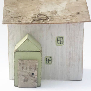 Rustic Wood Cottage Ornament Wooden Houses