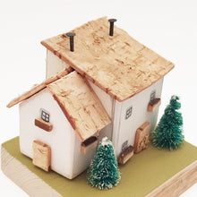 Load image into Gallery viewer, Wooden Cottage Winter Scene