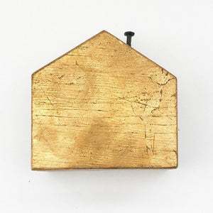 Gold Gild Wooden House - 50th Anniversary Gift