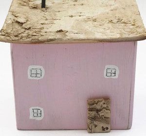 Pink House Handcrafted Miniature Wooden Houses Pink Ornaments