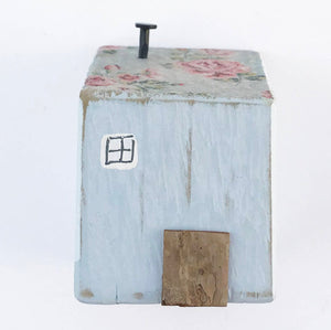Salvaged Wood and Decoupage House