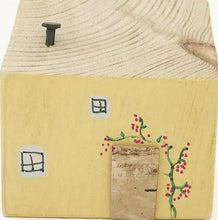 Load image into Gallery viewer, Wooden Yellow Decorative Cottage