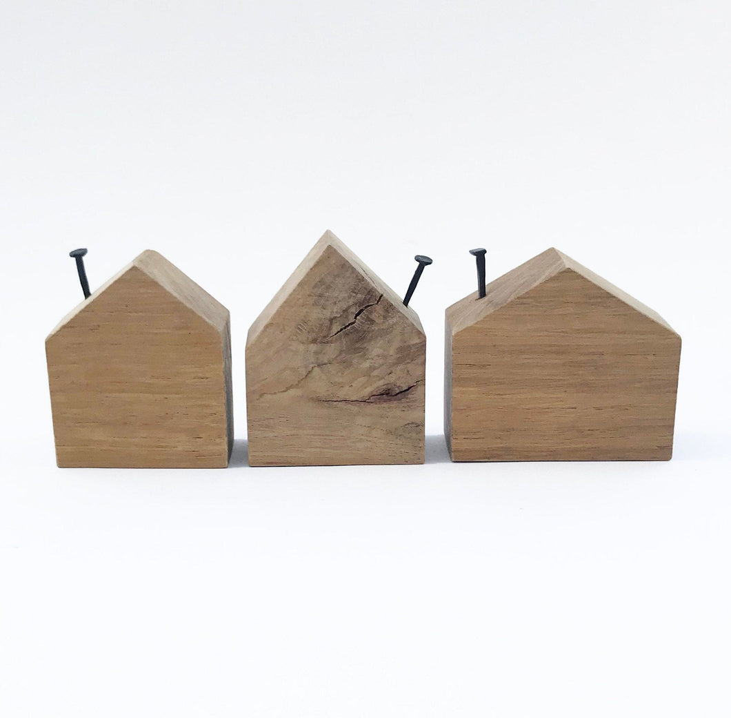 Wooden House Blocks Wooden Ornaments Wood Decor Wood Gifts Unpainted Wooden Block Houses