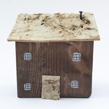 Load image into Gallery viewer, Miniature Rustic House Handmade House Rustic Ornaments