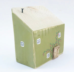 Green Wooden Cottage Small Wood Home Decor