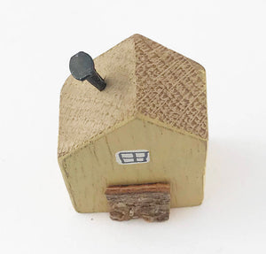 Yellow Tiny House Ornament