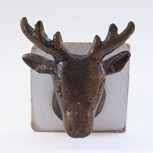 Load image into Gallery viewer, Stag Head Door Stop - White Wood