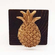 Load image into Gallery viewer, Handmade Wooden Door Stop with Gold Pineapple