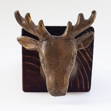 Load image into Gallery viewer, Stag Head Door Stop - Dark Wood