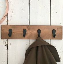 Load image into Gallery viewer, Rustic Wood Hooks Coat Rack Towel Hooks Home Decor