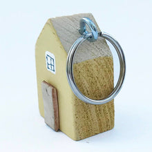 Load image into Gallery viewer, House Keyring Wood Key Fob Key Chains for Women Key Ring New Home