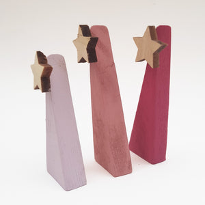Pink Pallet Wood Christmas Trees for Mantel