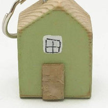 Load image into Gallery viewer, Tiny House Green Key Ring