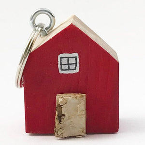 House Key Fob Red Small Gifts