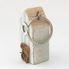 Load image into Gallery viewer, Beach Hut Keyring Wood Keychain Nautical Gifts