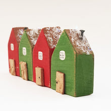 Load image into Gallery viewer, Wooden Christmas Tiny Houses Ornament
