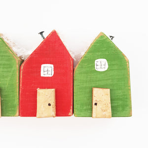 Wooden Christmas Tiny Houses Ornament