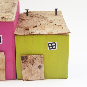 Wooden Houses Garden Ornament