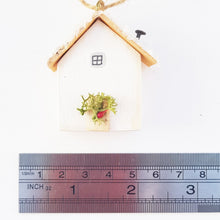 Load image into Gallery viewer, Tiny Wood House Christmas Tree Decoration