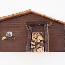 Load image into Gallery viewer, Rustic Wooden Log Cabin Cabin Christmas Ornament
