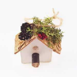 Bird House Wooden Christmas Tree Ornament