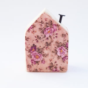 Pink Wood House Tiny Wooden House Wood Gifts