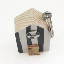 Load image into Gallery viewer, Wooden Keyring Beach Hut Miniature