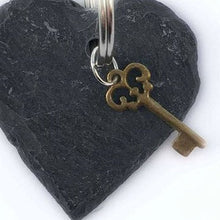 Load image into Gallery viewer, Heart Key Chain Slate Keyrings Small Gifts