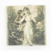 Load image into Gallery viewer, Wood Coasters with Vintage Style Romantic Scene